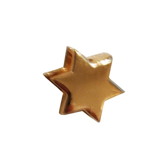 Design Letters Star 18K Gold Plated Silver Gold
