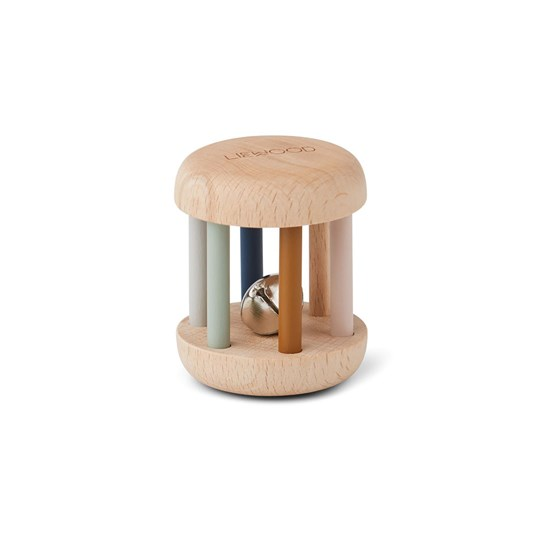 Liewood Merete wood rattle Mix Blue