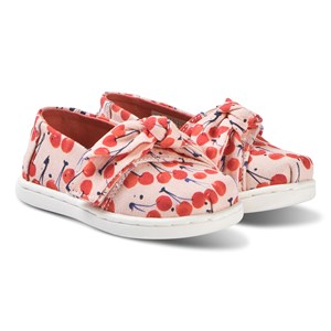 Image of Toms Bow Tiny TOMS Classics Coral Pink/Cherry Cherie 21 (UK 4) (3148257349)