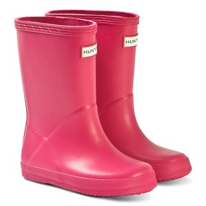 Image of Hunter Kids First Classic Rain Boots Bright Pink 24 (UK 7) (3149053627)