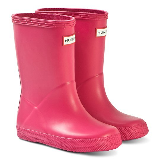 Hunter Bright Pink Kids First Classic Wellington BRIGHT PINK