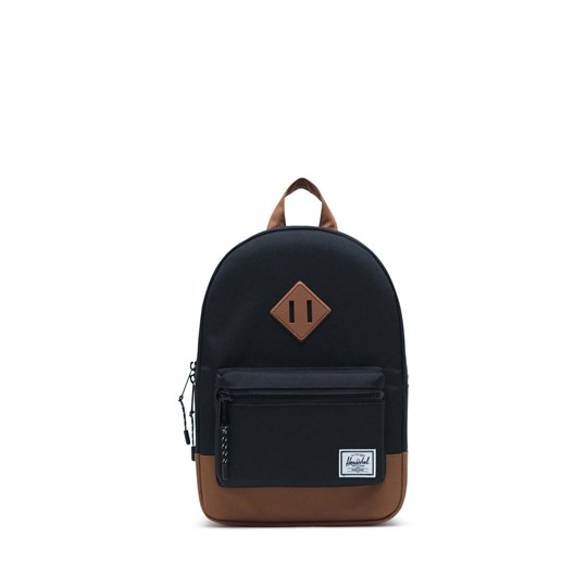 Herschel Heritage Kids Ryggsäck Svart/Saddle Brown Black Saddle Brown