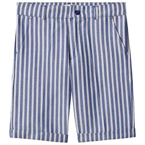 Image of Dr Kid Blue Multi Stripe Cotton Shorts 5 år (1363658)