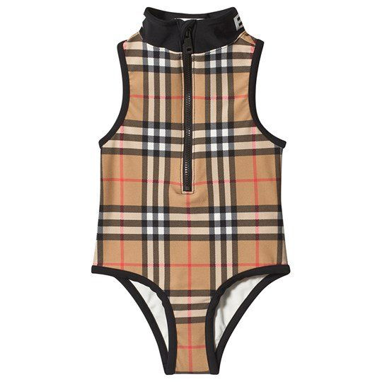 Burberry Beige Check Siera Swimsuit A5145