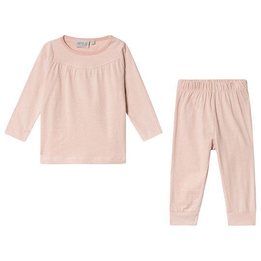 Wheat Yoke Pyjamas Mørke Rose Dark Rose