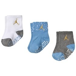 Air Jordan Pack of 3 Blue, Grey and White Cement Ankle Socks