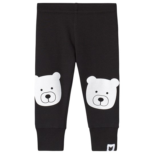 Tobias & The Bear Black & White Bear Print Leggings White