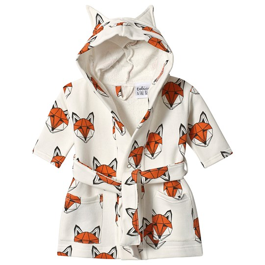 Tobias & The Bear Fox Print Dressing Gown Orange