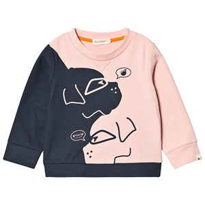 Image of Billybandit Black and Pink Dog Faces Sweatshirt 10 years (3149052353)