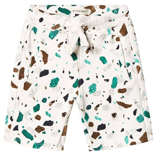 Billybandit Terrazzo Sweat Shorts Off White Color Description