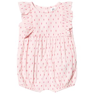 Image of GAP Embroidered Romper Pink 0-3 mdr (3149052759)