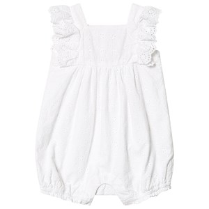 Image of GAP Eyelet Romper White 3-6 mdr (3149053163)