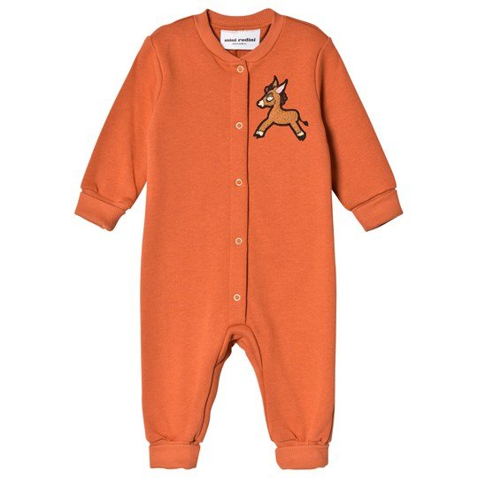 Mini Rodini Donkey Cactus Onesie Orange Orange