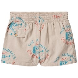 The Animals Observatory Beetle Shorts Beige Dogs