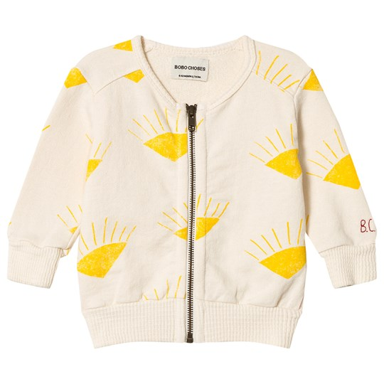 Bobo Choses Sun Zipped Sweatshirt Buttercream Buttercream