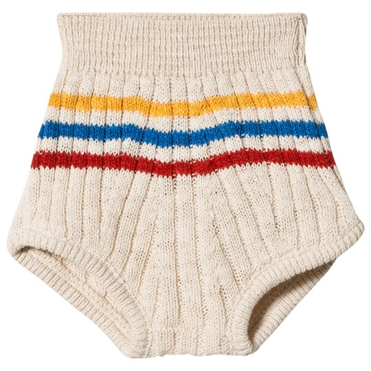 Bobo Choses Striped Knitted Bloomers Buttercream Buttercream