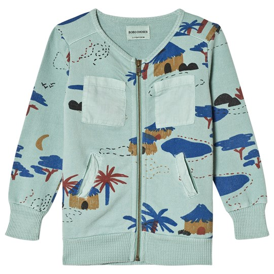 Bobo Choses Gombe Zipped Sweatshirt Beryl Green Beryl Green