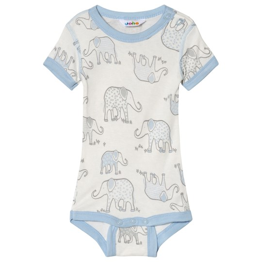 Joha Elephant Print Body Blue Elephant