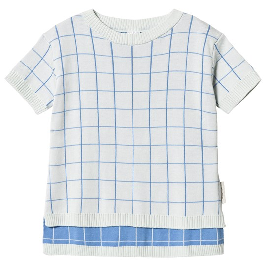 Tinycottons Grid Sweater Light Blue/Cerulean Blue light blue/cerulean blue