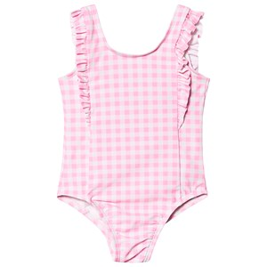 Image of GAP Gingham Swimsuit Pink 18-24 mdr (3150379973)