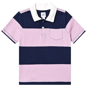 Image of GAP Stripe Polo Shirt Purple XL (12-13 år) (3150380445)