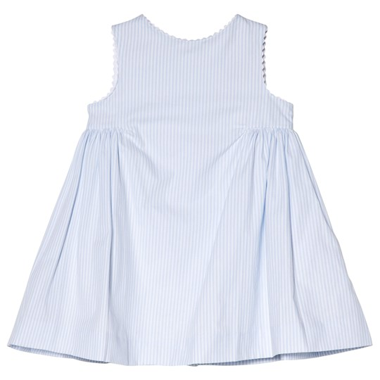 Cyrillus Pale Blue and White Stripe Party Dress 6388