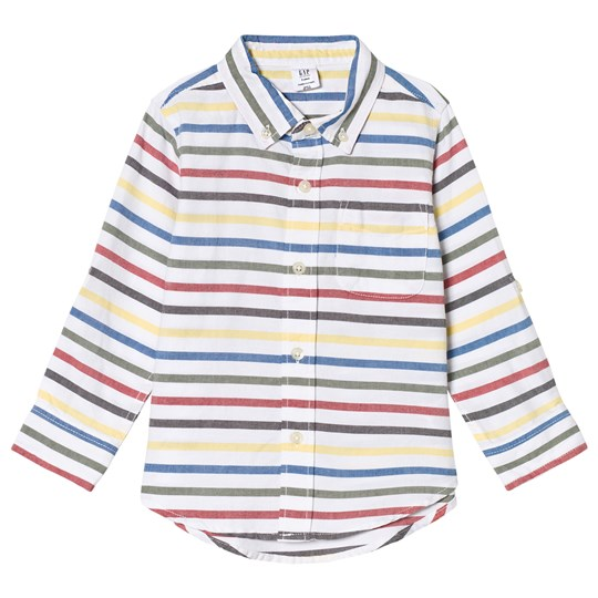 GAP Stripe Oxford Shirt White White