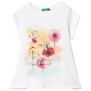Image of United Colors of Benetton White T-Shirt 1Y (12-18 mdr) (3034055351)