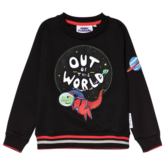 Fabric Flavours Black Out Of This World Space Sweatshirt Black