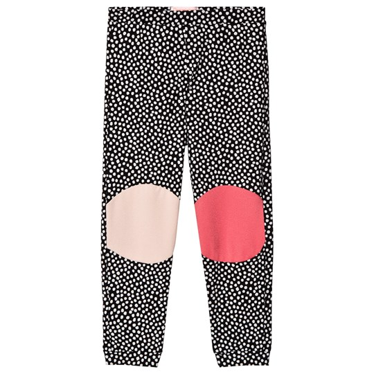 Wauw Capow Black Leggings with White Spots and Knee Patches Black