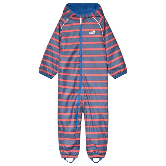 Muddy Puddles EcoSplash Coverall Navy/Red Stripe Navy / Red Stripe