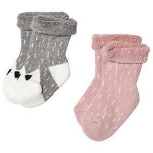 Image of Melton 2-Pack Terry Baby Socks Pink 23-26 (3060377573)