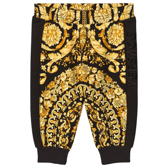 Versace Black and Gold Baroque Print Sweat Pants 4229