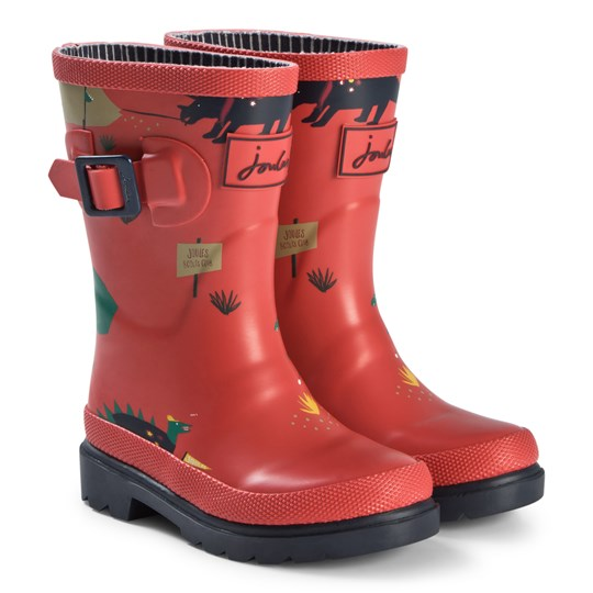 Tom Joule Red Dinosaur Print Wellington Boots RED DINO SCOUTS