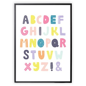 Image of XO Posters Poster Alphabet Multi color 50x70 cm (1356525)