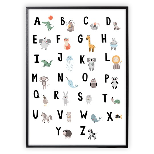 XO Posters Poster Alphabet Animals
