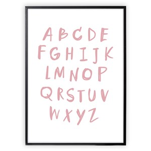 Image of XO Posters Alphabet Poster Pink 30x40 cm (3148270957)
