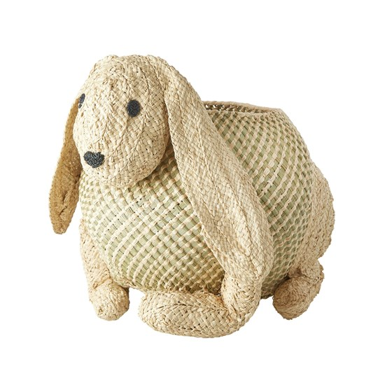 Rice Woven Bunny Storage Basket