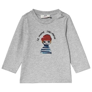 Image of Cyrillus Grey Graphic Tee 9 months (3125292071)