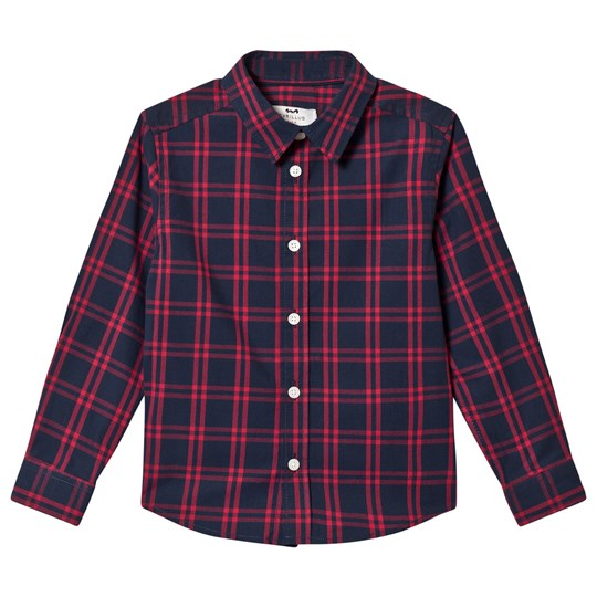 Cyrillus Red and Navy Check Shirt 6981