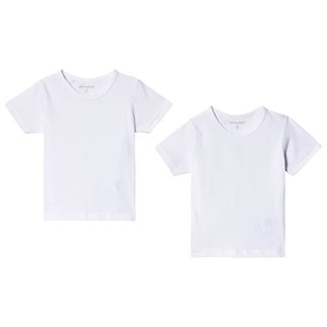 Image of Minymo Basic Tshirt 2-pack Brilliant White 116 cm (5-6 år) (1362107)