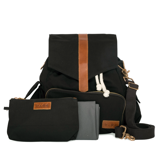 KAOS Ransel Changing Bag Black/Tan Black/Tan