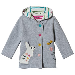 Image of Frugi Cozy Button Up Jacket Grey Marl/Bunny 6-12 months (3057107743)