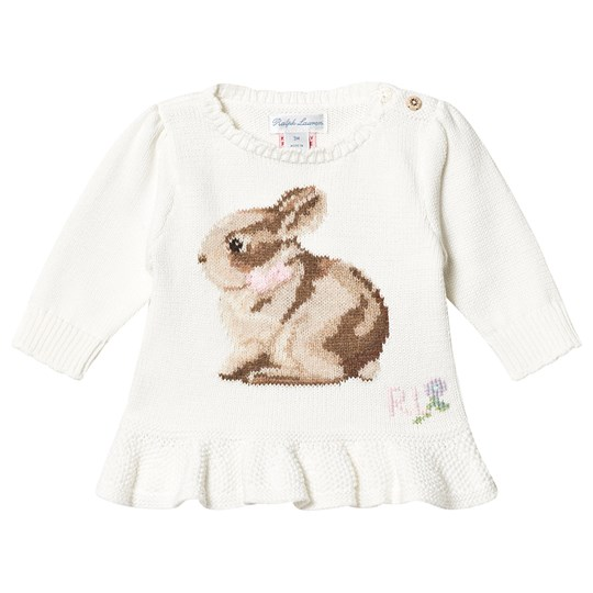 Ralph Lauren Bunny Strikket Sweater Cream 001