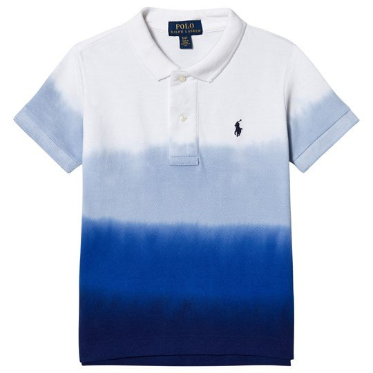 Ralph Lauren White and Blue Dip Dye Polo 001