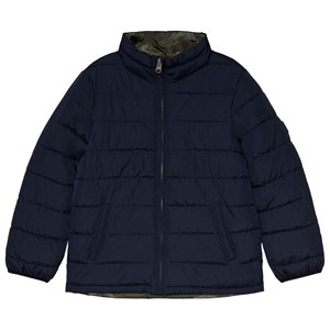Image of GAP Navy and Camo Reversible Jacket L (10-11 år) (1199523)