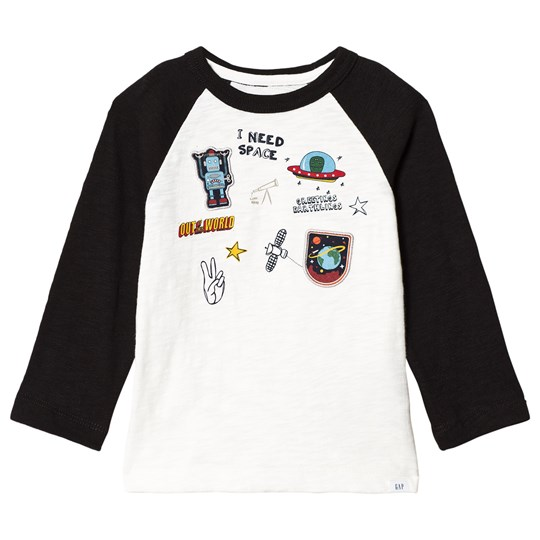 GAP Graphic Raglan T-shirt True Black TRUE BLACK