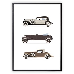Image of XO Posters Retro Cars Poster 30x40 cm (3148271015)
