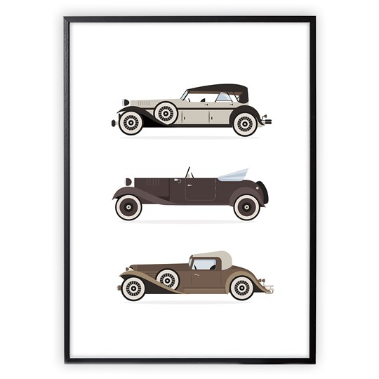 XO Posters Poster Retro Cars