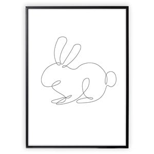 Image of XO Posters Rabbit Lines Poster 30x40 cm (3148271021)